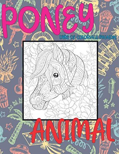 Livre de coloriage mignon - Animal - Poney