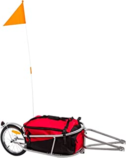 Apex BCT-8002 Single Wheel Pull-Behind Bicycle Trailer with Cargo Bag