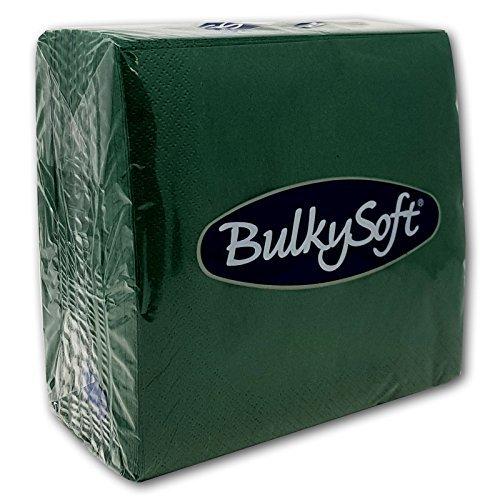 Bulkysoft Tovaglioli di carta morbida 33x33cm verde
