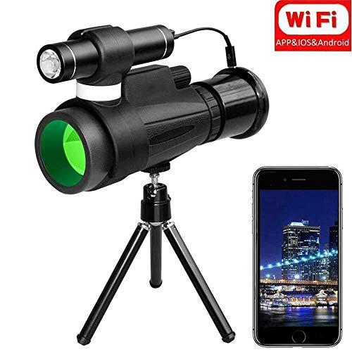 KAR 12x50 WiFi Vision IR Nocturne Infrarouge monoculaire + Support de téléphone pour la Chasse Camping