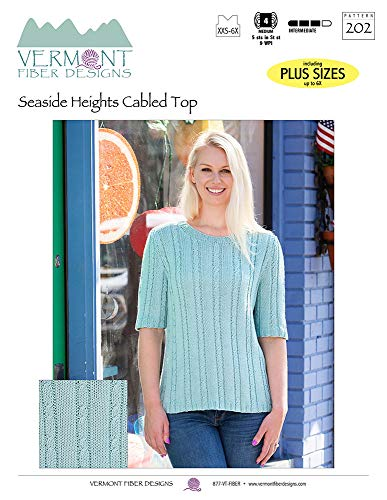Seaside Heights Cabled Top: Hand Knitting Sweater Pattern from Sue McCain (English...