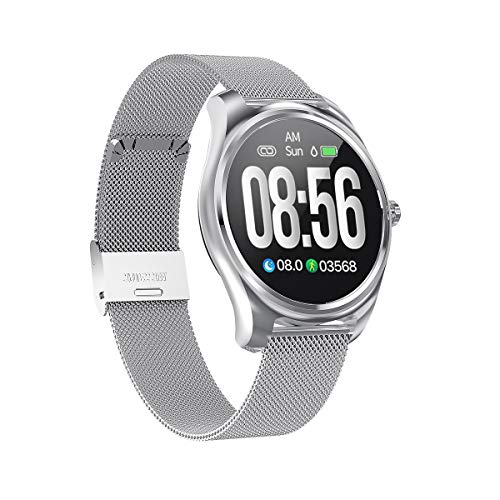 Mintsin Updated 2019 Smart Watch for Android iOS Phone, Activity Fitness Watches Health Exercise Smartwatch with Step Count,Heart Rate, Sleep,Blood Pressure Monitoring Suitable for Men Women