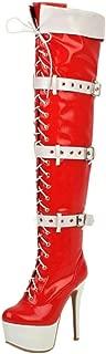 Zanpa Women Fashion Thight High Boots Zipper