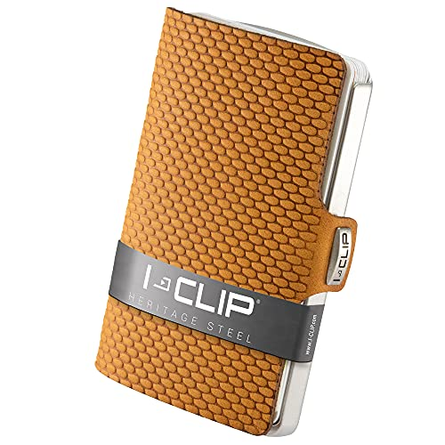 I-CLIP Heritage Steel Blasted Milanese Desert, Credit Card Holder, Wallet, Money Clip, Stainless Steel