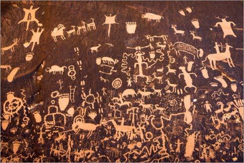 Posterlounge Cuadro de Aluminio 100 x 70 cm: Petroglyphs on