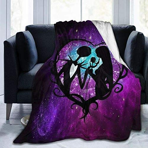 Jinsshop The Nightmare Before Christmas Ultra Soft Throw Blanket Flannel Fleece Summer Season Light Weight Living Room Bedding/Bedroom (50'x40', The Nightmare Before Christmas 1)