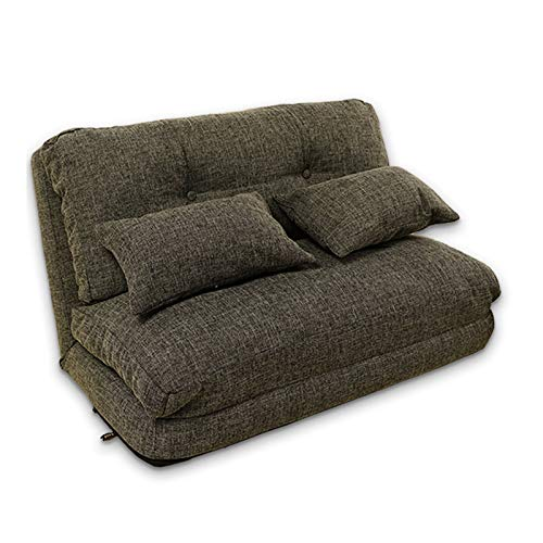 Xin Hai Yuan Lazy Sofa Bed Adjustable Floor Sofa, Foldable Gaming Sofa Mattress Futon Couch Bed with 2 Pillows,Green