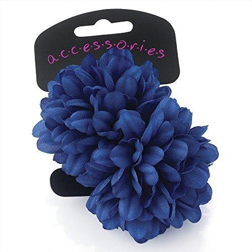 Paire de magnifiques fleurs bleu royal petits élastiques – Nombreuses couleurs disponibles