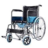 MinMin Rollstuhl, der tragbaren ultraleichten alten Wagen mit WC-Multifunktions-altem Roller-Lagergewicht 100kg faltet Medizinische Ausrüstung -