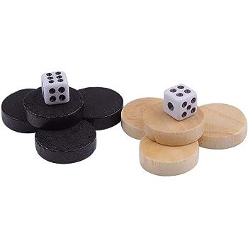 Holz Backgammon Würfelset Ersatzset