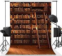 学生のための新しいヴィンテージ本棚の背景芸術的なパーティーの背景写真7x10FTライブラリ学校の本コレクション写真の背景スタンドパーティー壁紙部屋壁画小道具ソフトコットンMSDLS