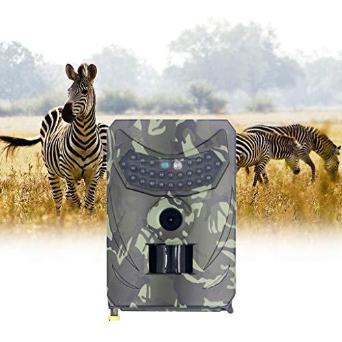 A/H Camouflage Full HD Jagdkamera, 12MP Photo Trap 1080P Nachtsicht-Trail-Kamera fur Wildkamera Fernbedienung, Wasserdicht Klein für Jäger Garten Outdoor (Grün)