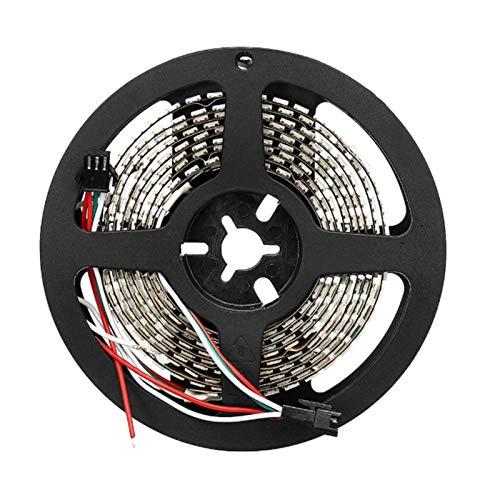 H/A DC5V 2M WS2812B 144LED / M 12 mm Ancho IP20 Blanco/Pizarra Independiente direccionable RGB LED Lámpara IP20 MENGN (Color : Black PCB, Size : 2M)