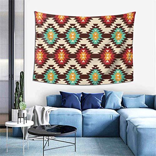 ZharkLI Tapiz indio hippie-gitano bohemio-americano nativo para colgar en la pared, multicolor, grande, 106 x 152 cm