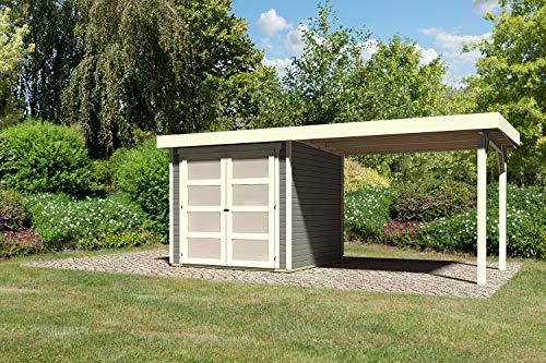 KARIBU. Gartenhaus mit Anbaudach Mühlendorf 2...