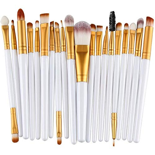 Maquillage Brush Set 20 à 1 poignée en plastique souple Head Eye Foundation Lip multi-fonction Pinceau Outils de maquillage, Maquillage de visage Pinceau (Color : Color5)