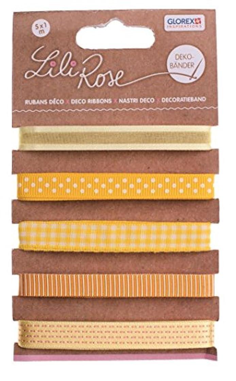 Glorex 6?2202?709?Decorative Strips on Card, Polyester, Yellow, 15?x 8.5?x 0.5?cm
