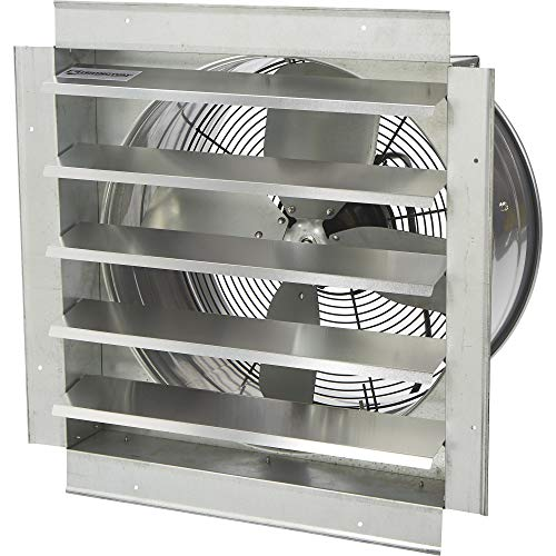 Strongway Heavy-Duty Fully Enclosed Direct Drive Shutter Exhaust Fan - 18in. 2800 CFM, 120 Volts, 4 Blades