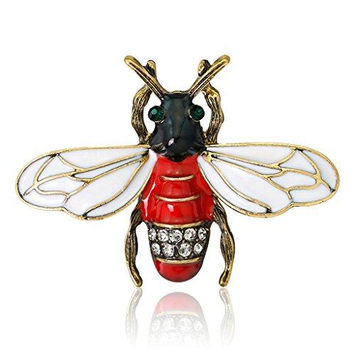 Koobysix Bijen insect broche pins sieraden vrouwen rood mode geschenken emaille badge decoratie