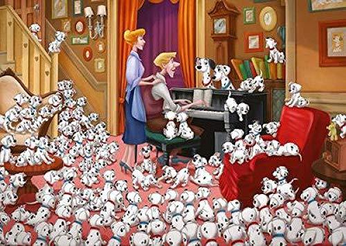 NSWZX Houten legpuzzels van 1000 stukjes, zeer uitdagende decompressie educatieve puzzel, hond