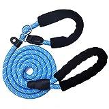 MayPaw Hundeleine aus starkem Nylon, 2-in-1, kein Halsband oder Geschirr, verstellbar, Mittel Groß...