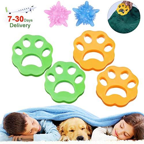 JOYXEON dierenhaarverwijderaar, huisdier, haarverwijderaar voor wasmachine, pluiszeef, haarvanger, ontharing + 2 x wasmachine, herbruikbaar, voor hondenhaar, kattenvacht, alle huisdieren (6 stuks)