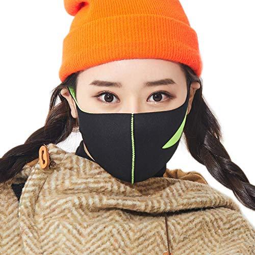 LOOKA | Protective Fashion Air Mask | Washable and Reusable | SLIT Lime (Medium)