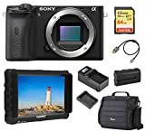 Sony Alpha a6600 Mirrorless Digital Camera Body (ILCE6600/B) Monitor Bundle with Bag, Lilliput 7-inch Monitor, Battery, Charger, 64GB SD Card and Accessories