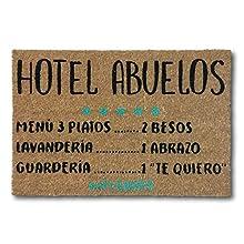 koko doormats felpudos Entrada casa Originales, Fibra de Coco y PVC, Felpudo Exterior Hotel Abuelos, 40x60x1.5 cm | Alfombra Entrada casa Exterior | Felpudos Divertidos para Puerta