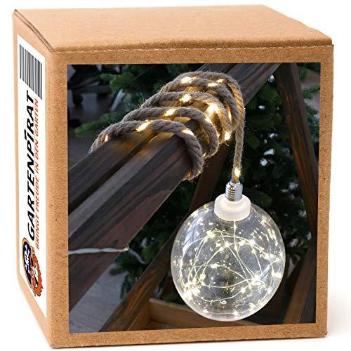 Leuchtkugel Ø 20cm groß mit Seil zum Aufhängen Batterie