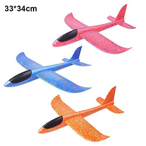 Valigrate Airplane Toys, Manual Throwing Outdoor Sport Toy, Airplane Model Foam, Fun Model Hand Glider Colorful Children Kids