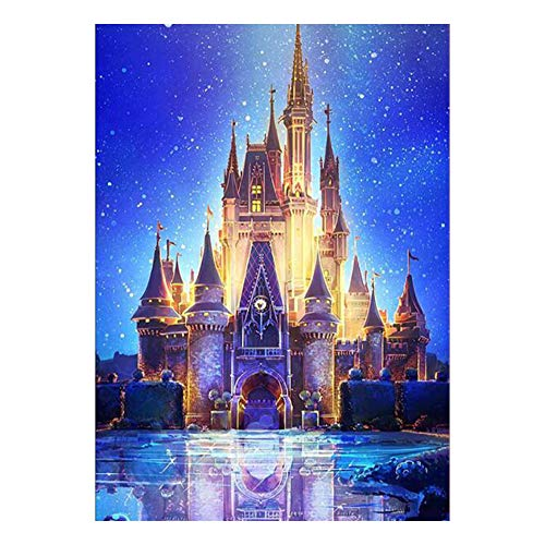 ZKHONG 5D Diamond Painting Kits for Adults Kids DIY Full Drill Painting Kit Castle Rhinestone Embroidery Pictures Cross Stitch Arts Craft for Home Wall Decor, 30 * 40cm