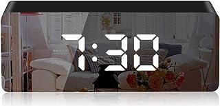 KKshop Réveil Numérique, LED Miroir Horlogue Digitale Réveil de Chevet Réveil Matin, Lumière de Nuit, Luminosité Réglable,...