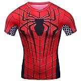 Cody Lundin - Camiseta de compresin para hacer deporte, para hombre , Hombre, color Spider-Man, tamao Medium