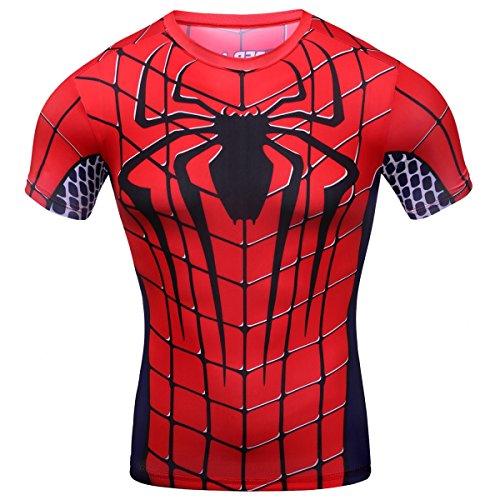 Cody Lundin - Camiseta de compresión para hacer deporte, para hombre , Hombre, color Spider-Man, tamaño Medium