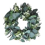 Corona de Eucalipto Artificial, Corona de Navidad Anillos de Eucalipto Guirnalda de Hojas de...