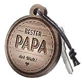 Anhänger aus Holz mit Gravur Bester Papa