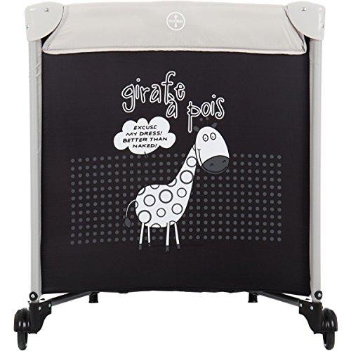 Reisebett/Babyreisebett GIRAFFE mit Rollen und Schlupfloch (Inklusive Matratze & Transporttasche) 120 x 60 cm von 0 – 5 Jahren - 5
