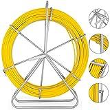 VEVOR Cable de Fibra de Vidrio 8 mm x 150 m, Rodillo de Conducto de Cinta 8 mm x 150 m, Cable de Alambre de Fibra de Vidrio, Continuo Funcionamiento de Alambre de Tracción, para Electricidad etc.