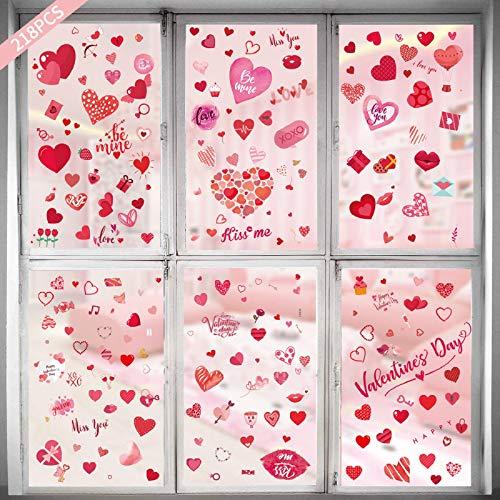 cookin San Valentín, adhesivo decorativo para ventana, frigorífico, decoración de San Valentín, adhesivo de pared para dormitorio