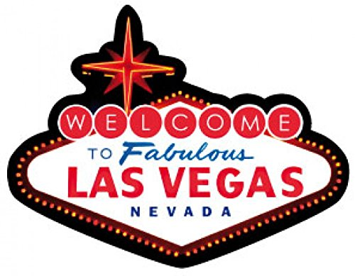 1art1 Las Vegas Poster-Sticker Autocollant - Logo Las Vegas (9 x 9 cm)