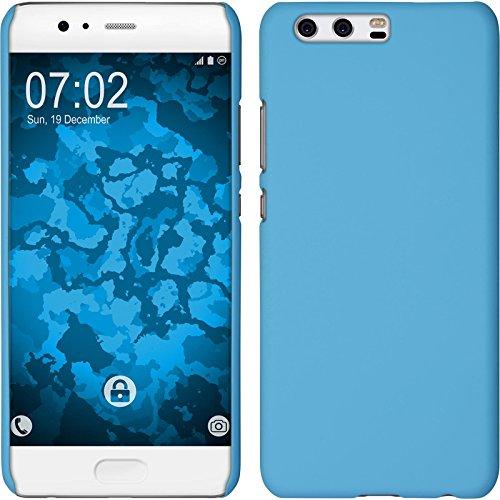 Preisvergleich Produktbild PhoneNatic Case kompatibel mit Huawei P10 Plus - Hülle hellblau gummiert Hard-case + 2 Schutzfolien