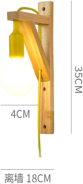 Nordic holz wandleuchte kreative wohnzimmer wandleuchte schlafzimmer nachttischlampe lampenbeleuchtung, 3