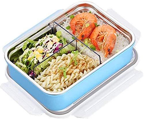 ZXT ME Dos Sets Caja de Almuerzo Bento de Acero Inoxidable for niños Adultos, contenedores de Almacenamiento de Alimentos a Prueba de Fugas, contenedores de Almuerzo Escolar, 3 comentarios de