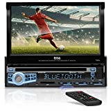 BOSS Audio Systems BV9976B Car DVD Player - Single Din, Bluetooth Audio and Calling, Built-in Microphone, CD-USB-SD-Aux-in-AM FM Radio Receiver, 7 Inch Digital LCD Display, Multi-color Illumination