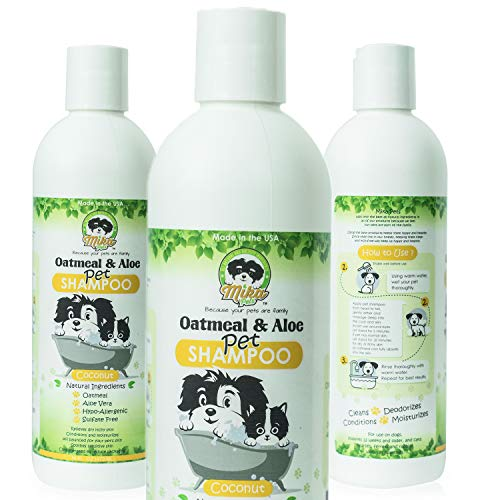 Dog Shampoo for Smelly Puppy, Cat, Small Pet - Natural Oatmeal...