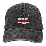 N \ A Marihuana Leaf Denim Gorra de béisbol Sombrero de Sol Personalizado Accesorios de Béisbol Mujeres Hombres Al Aire Libre Ajustable Casqueta Papá Sombrero Negro
