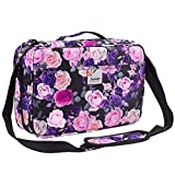 Shulaner Pencil Case Slot Holds 360 to 364 Colored Pencils or 240 to 244 Color Gel Pens with Zipper Closure Large Capacity Nylon Pen Organizer for Student or Artist Purple Rose