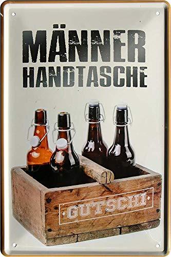 """Blechschilder Bier lustiger Spruch: """"MÄNNER Handtasche"""" Deko Schild Bar-Schild Theke 20x30 cm"""