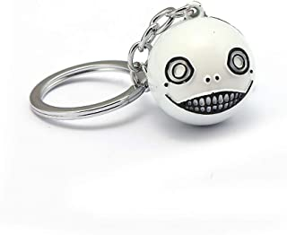 Mct12 - Game NieR Automata silicone solid big face ball keychain 2B emil No. 2 Type B Heroine keyring Charm Jewelry Gift